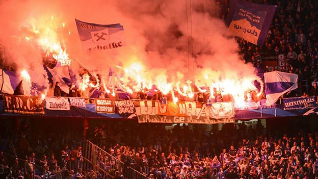 Fansektor Schalke im St. Jakob-Park