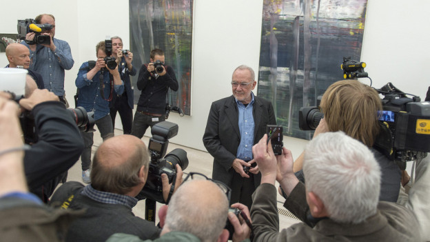 Riesiger Medienrummel in Riehen um Gerhard Richter.