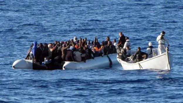 Flüchtlingsströme sind ein mögliches Katastrophen-Szenario (das Bild zeigt ein Flüchtlingsboot auf dem Mittelmeer).
