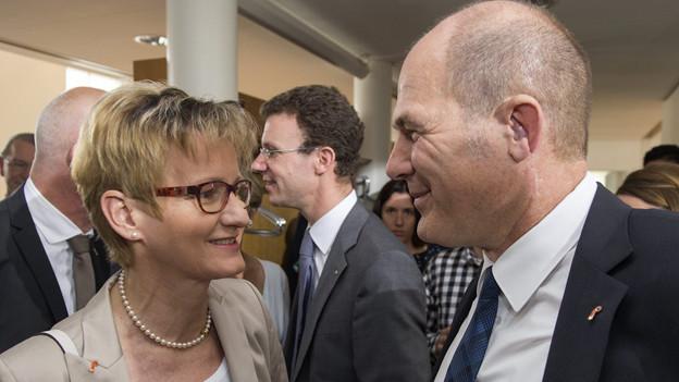 Pegoraro (FDP) und Lauber (CVP) kandidieren wieder.