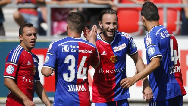 Freude beim FC Basel.