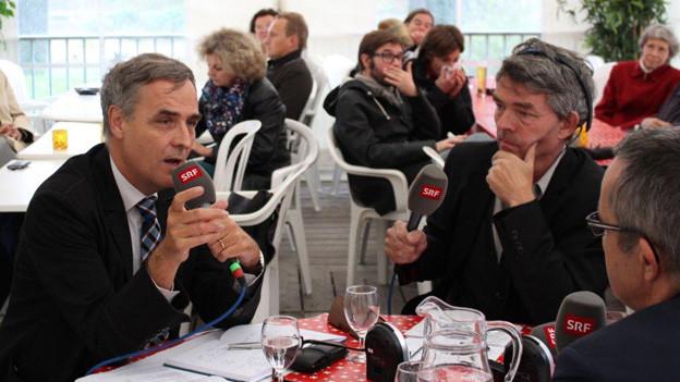 Guy Morin und Thomas Weber im Gespräch