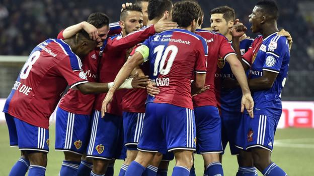 Freude beim FC Basel nach Sieg gegen YB