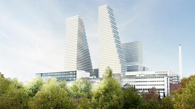 Die neue Roche-Türme zu Basel