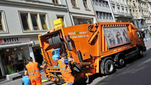 Die Müllabfuhr bleibt Basel erhalten.