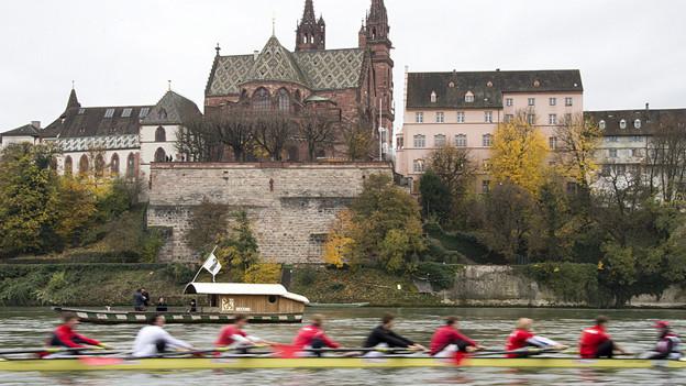 Ruderboote prägten das Basler Stadtbild