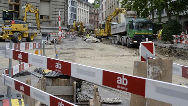 Baustelle in der Elisabethenstrasse
