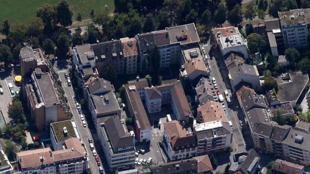 Der heutige Standort im Schützenmattquartier
