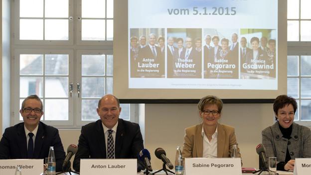 Das bürgerliche Viererticket für die Baselbieter Regierung.