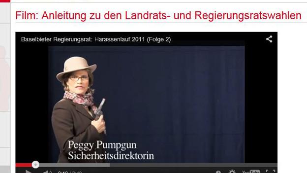Parodie mit «Peggy Pumpgun» dank Youtube auf offizieller BL-Seite abspielbar.