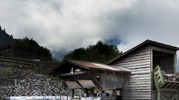 Die Guber Natursteine AG in Alpnach baut pro Jahr etwa 35'000 Tonnen Quarzsandstein ab.