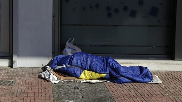Obdachloser Symbolbild