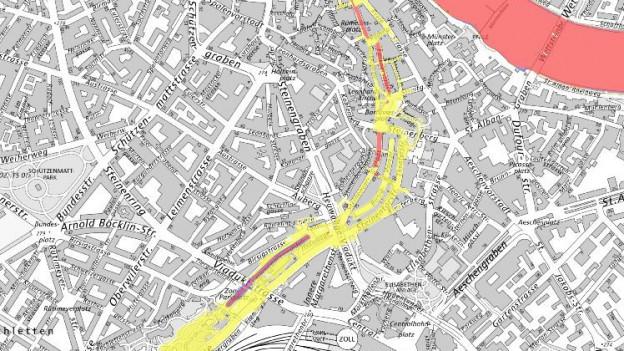 Eingedoltes Gewässer bedroht Basel