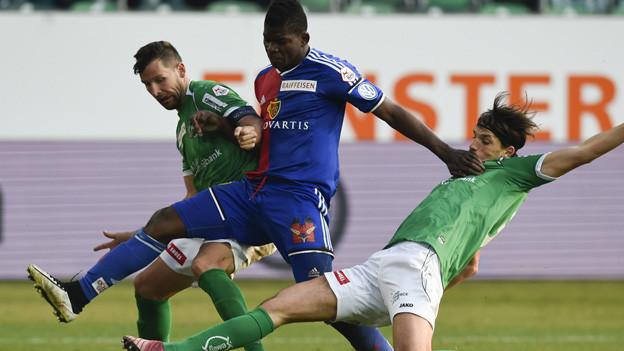 Der FC Basel spielt in St.Gallen unentschieden