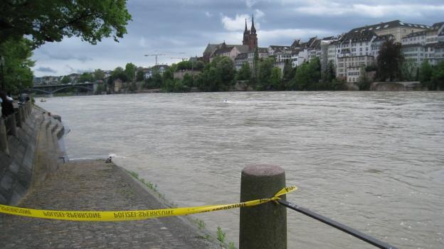 Der Rhein führt derzeit viel Wasser.