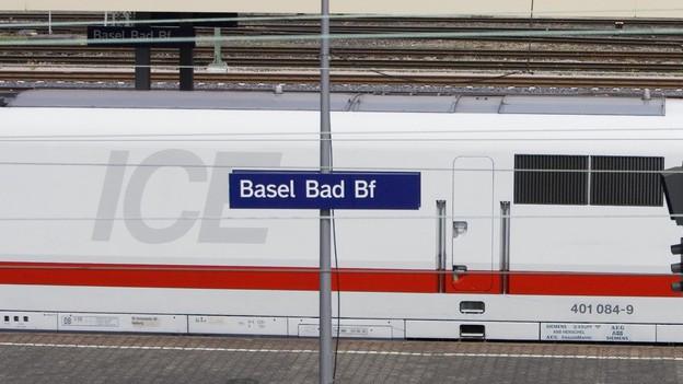 ICE am Badischen Bahnhof in Basel