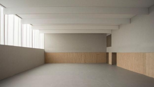 So würde die Turnhalle innen aussehen.
