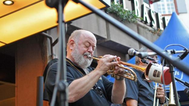 Jazzer in der Basler Innenstadt.