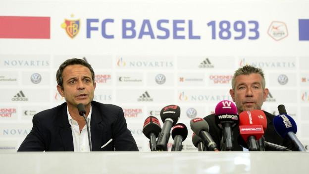 Präsident Bernhard Heusler hat heute den neuen Trainer vorgestellt.