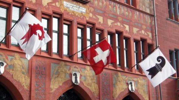 Baselbieter Stab am Basler Rathaus