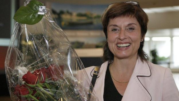 Anita Fetz gewinnt die Ständeratswahl im Jahr 2007.