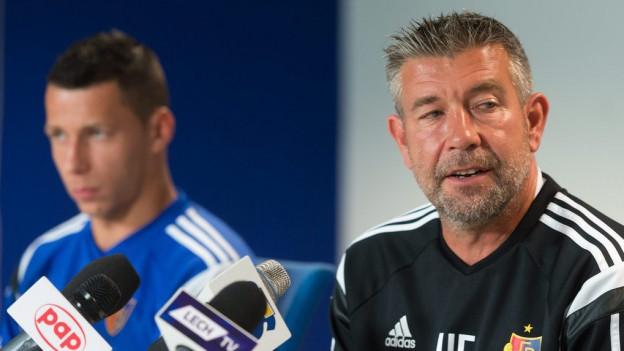 Verteidiger Marek Suchy und Trainer Urs Fischer.