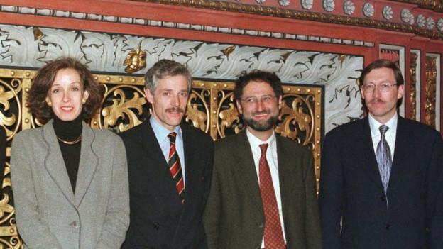 Barbara Schneider, Ueli Vischer und Ralph Lewin müssen dem Kanton fehlende Beträge zurückbezahlen (Bild von 1996).