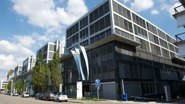 Aussenansicht der neuen Gebäude der Uni Basel in Allschwil