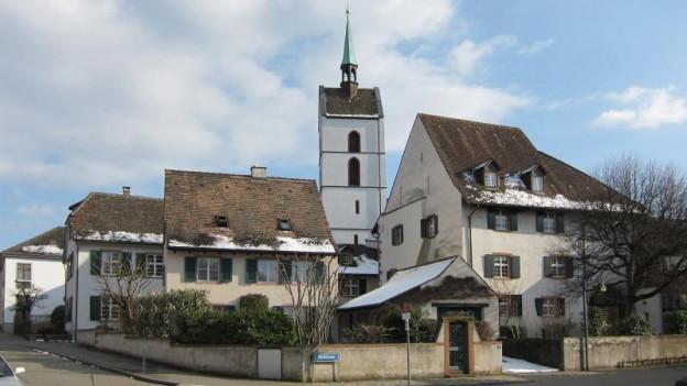 Dorfkern Riehen mit Kirche