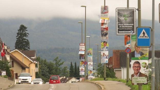 Baselbieter Plakatflut grösser als in der Stadt