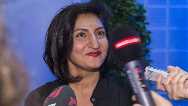 Sibel Arslan, Wahlsiegerin in Basel