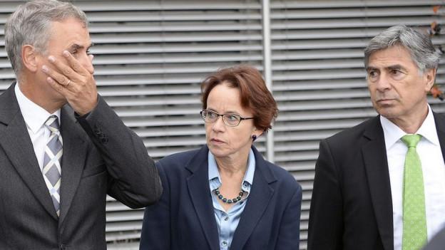 Basler Regierungsräte Guy Morin, Eva Herzog und Christoph Eymann