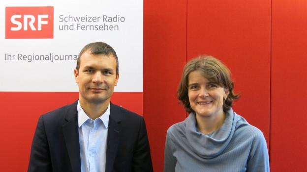 Portrait von Christof Hiltmann und Kathrin Schweizer