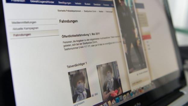 Mit der Fahndung im Internet bleibt Basler Polizei zurückhaltend.