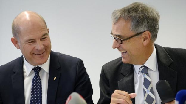 Anton Lauber und Guy Morin