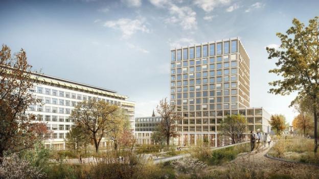 Universitätsspital soll einen Turm erhalten.