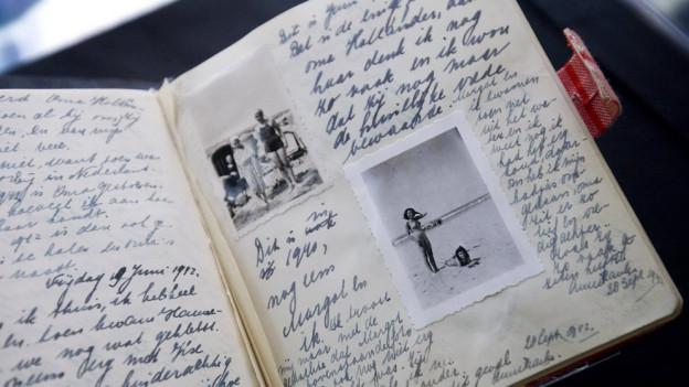 Faksimile eines Anna-Frank-Tagebuchs.