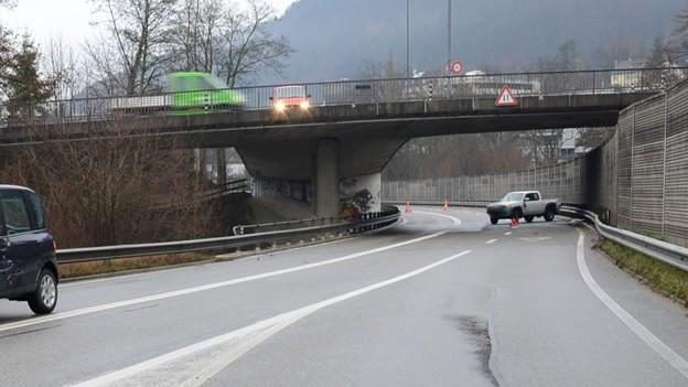 Teilstück der Umfahrung mit Viadukt
