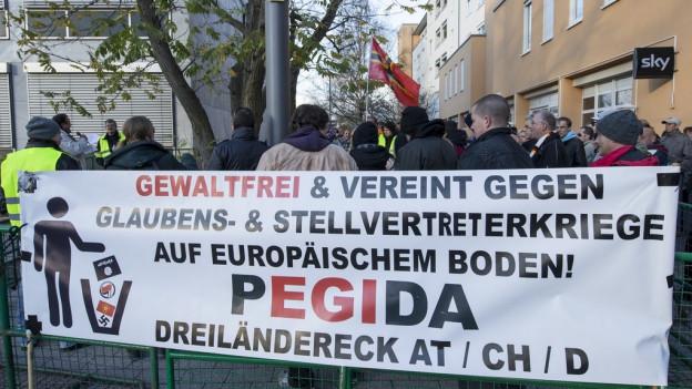 Pegida-Demonstration vom November in Weil am Rhein.