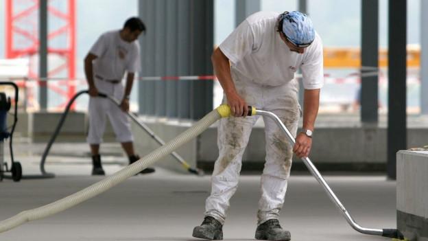 Bauarbeiter in Rohbau