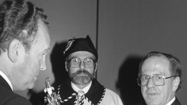 Alt-Regierungsrat Karl Schnyder (links im Bild)