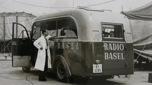 Ein Radiostudio Wagen aus der Pionierzeit