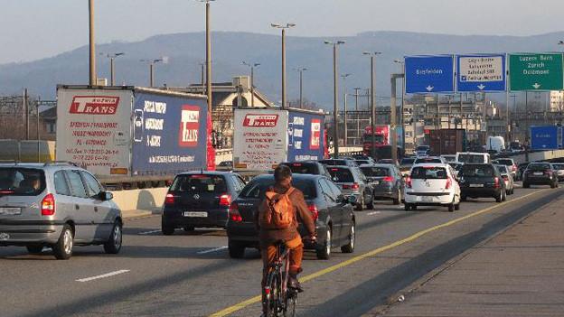 Weniger Autoverkehr in Basel
