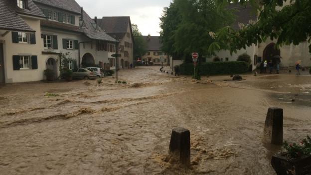 Hochwasser bedroht Muttenz
