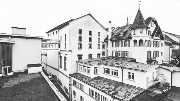 Historische Aufnahme vom Ziegelhof-Areal.