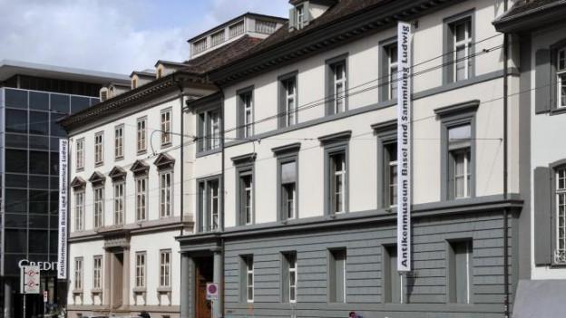 Blick auf die Fassade des Antikenmuseums