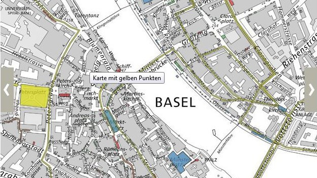 Karte des Basler Geoviewer