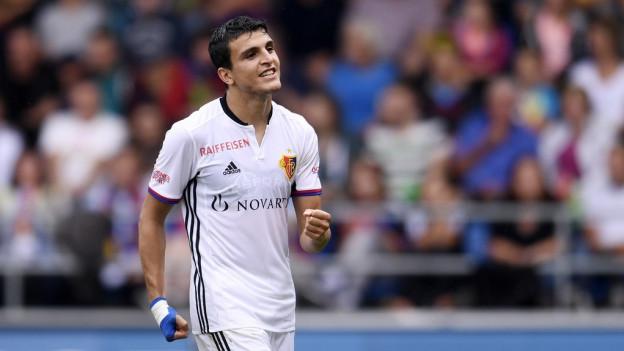 Basel-Spieler Momamed Elyounoussi nach dem Tor