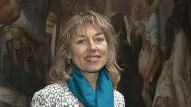 Grossratspräsidentin nach ihrer Wahl im Januar 2016