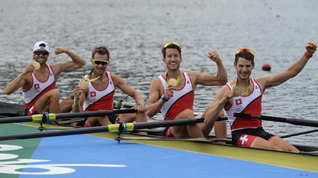 Im Team des Schweizer Leichtgewichts-Vierer ruderten auch zwei Basler mit